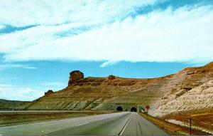 Wyoming Twin Tunnels On U S I-80 Between Rock Springs and Green River