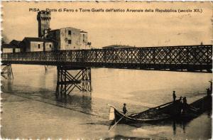 CPA PISA Ponte di Ferro e Torre Guelfa. ITALY (468149)