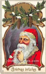 Santa Claus Postcard Old Vintage Christmas Post Card Dated 1912 hand writing,...
