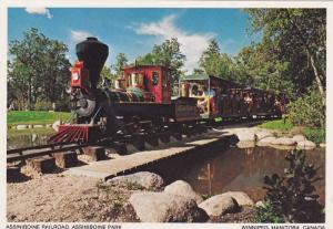 Miniature Train , Assiniboine Park , Winnipeg , Manitoba , Canada , 50-70s
