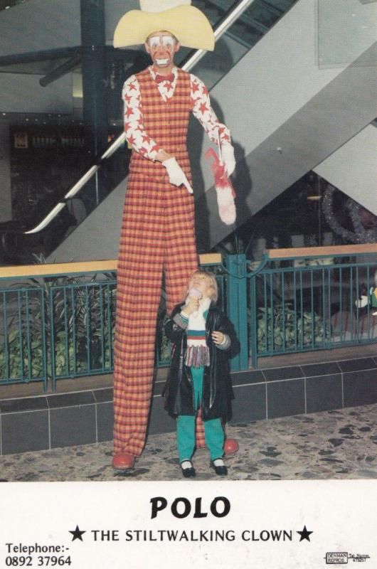 Polo Stiltwalking Tunbridge Wells Kent Stilts Giant Circus Clown Publicity Photo