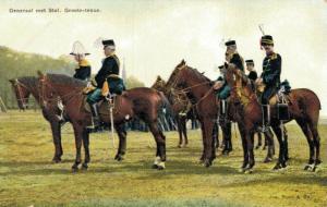 Military postcard - Generaal met Staf Groote tenue 02.13