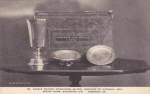 Virginia Hampton Saint Johns Church Communion Silver Brought To Virginia Albe...