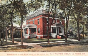 LP59 La Crosse Wisconsin Vintage Postcard U. S. Weather Bureau