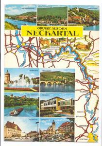 Gruss aus dem Neckartal Map 1975 Belgian Dutch Postage Meter