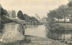 C-1910 Kent Pond Pretty View RPPC Photo Postcard Kentland Indiana 12210