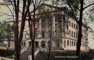 Richmond Virginia~State Library~1913 Postcard