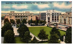 Delaware  Wilmington  Aerial View Rodney Square showing Post Office