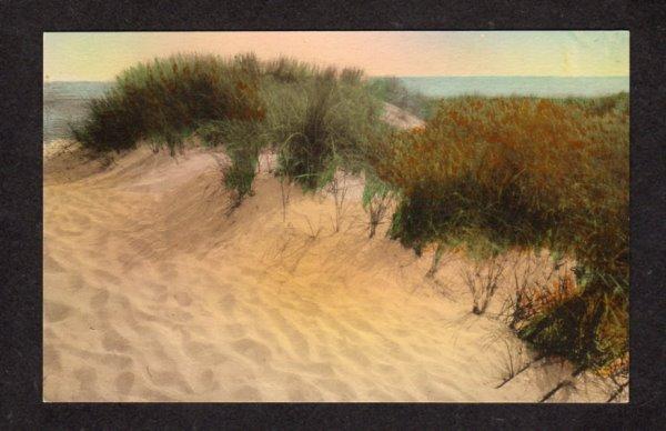 MA Dunes at Bars Chatham Mass Massachusetts Cape Cod Postcard Hand Colored