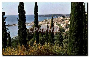 Modern Postcard The Wonderful sites the French Riviera Menton General view