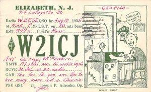 W2ICJ Elizabeth, NJ, USA QSL 1935
