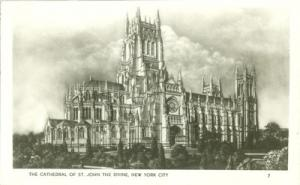 The Cathedral of St. John the Divine, New York City RPPC ...