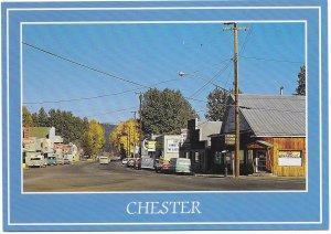 US Unused. Chester, California - The Old Towne Corner.  Nice.