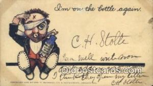 I'm on the Bottle Again  Postcard Post Cards Old Vintage Antique Postcard, Po...