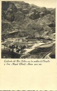 peru, Quebrada del Rio Chillón con los pueblos de Obrajillo y San Miguel (1930s)