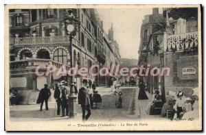 Old Postcard Trouville Calvados Paris Street