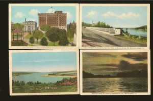 New Brunswick Canada 4 Vintage Tourist Bureau New Brunswick Postcards