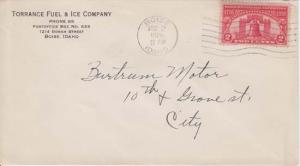 BOISE - Idaho / TORRANCE FUEL & ICE COMPANY - 1926 COVER + FLAG CANCEL