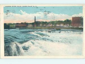 W-Border WATERFALL Glens Falls - Lake George New York NY HJ7785