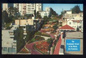 San Francisco, California/CA Postcard, Lombard Street, Crookedest St In World