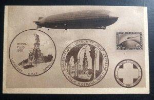 Mint Germany Picture Postcard PPC Graf Zeppelin LZ 127 1930 Flight To Spain