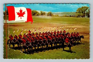 Canada, Royal Canadian Mounted Police, Musical Ride, Chrome Postcard