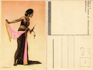 CPA INDONESIA Indische dansen en Voorstellingen Bedaja-Danseres (392327)