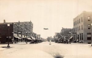 FAIRMONT,  MINNESOTA MAIN STREET, 1920'S ERA RPPC REAL PHOTO POSTCARD