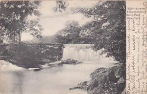 New York City Bronx Park Lower Falls Near Zoo 1907