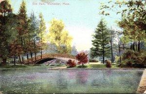 Massachusetts Worcester Scene In Elm Park 1907