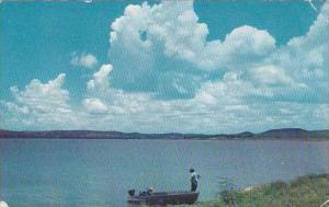 Texas Buchanan Dam Beautiful Scenic View Of Buchanana Lake 1959