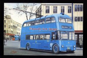 tm6641 - Walsall Trolley Bus No.862 on 30 route - Artist - G.S.Cooper - postcard