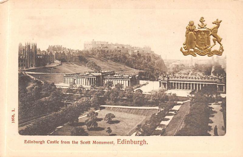 Edinburgh Castle from the Scott Monument