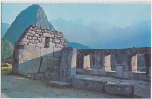 Temple of the Three Windows, Cusco - Peru, Machupicchu, unused Postcard