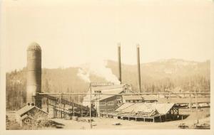 1930s RPPC Postcard Panhandle Lumber Co. Spirit Lake ID Kootenai County unposted