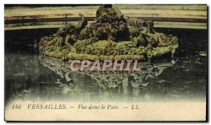 Old Postcard Versailles View in the Park