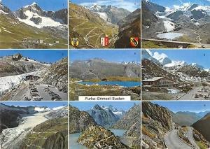 Switzerland Furka-Grimsel-Susten, auto cars mountains multiviews 1966