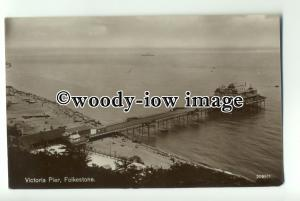 tp0879 - Kent - Victoria Pier from the Cliffs c1927, in Folkestone - Postcard