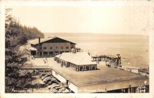 Tacoma Washington~Point Defiance Park~Pavilion & Boat House~1940s Ellis RPPC