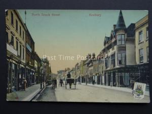 Berkshire NEWBURY North Brook Street c1906 Old Postcard by The Milton Series