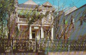 Louisiana New Orleans Cornstalk Fence Guest House 915 Royal Street 1958