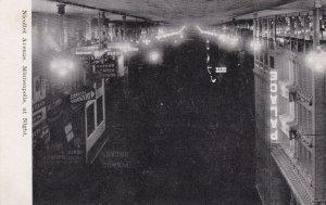Minnesota Minneapolis Nicollet Avenue At Night