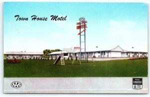 Postcard NJ Hightstown Town House Motel Vintage c1950s R33