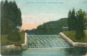 Cascade at Forest Park, Springfield Massachusetts 1906 Postcard