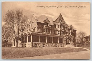 Columbia Missouri~University of Missouri YMCA~Basement Windows Open~1911 Sepia