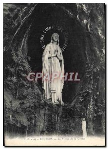 Old Postcard Lourdes Virgin of the Grotto
