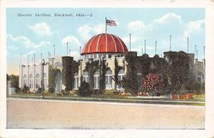 Blackwell Oklahoma~Electric Park Pavilion~Ivy Covered~US Flag~1920s Postcard