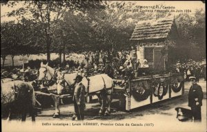 Montreal French Canadian Parade 1924 Louis Hebert Float Postcard