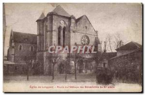 Longpont - Route of the Abbey - Old Postcard