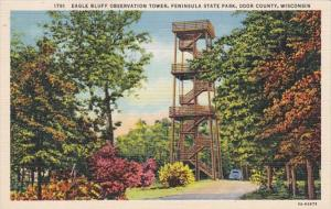 Wisconsin Door County Eagle Bluff Observation Tower Peninsula State Park Curt...